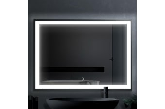 Devanti Bathroom Wall Mirror LED Light Illuminated Makeup Dressing Vanity 800mm