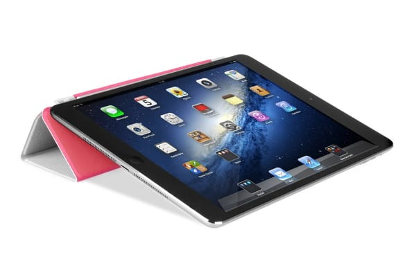 Magnetic Clever Cover with Sleep Function for iPad Mini (Pink)