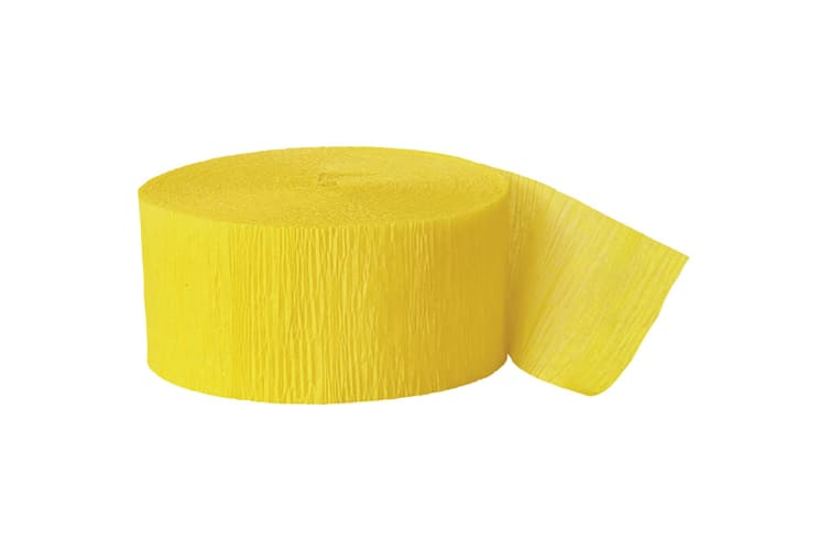 Unique Party Crepe Streamer Roll (81ft) (Yellow) (One Size)