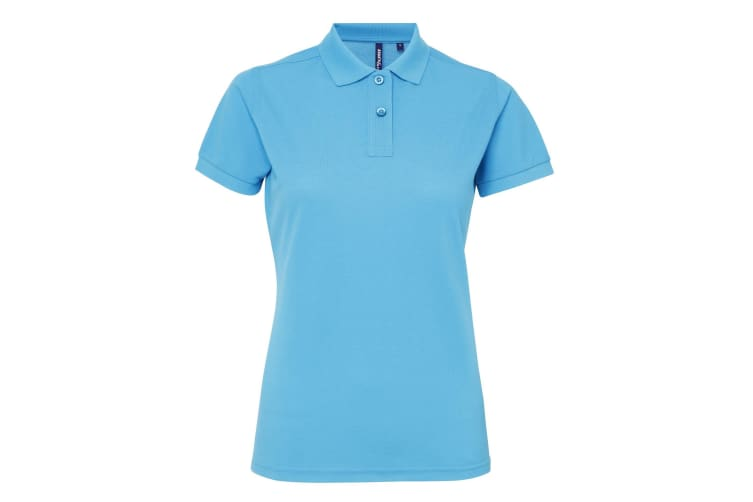 Asquith & Fox Womens/Ladies Short Sleeve Performance Blend Polo Shirt (Turquoise) (2XL)