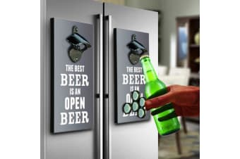 Magnetic Fridge Beer Bottle Opener & Top Catcher