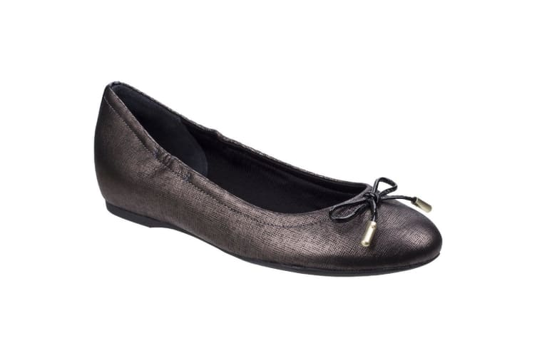Rockport Womens/Ladies Tied Leather Ballet Shoes (Onyx) (6 UK)