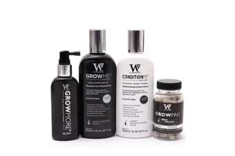 Watermans Grow Me Shampoo Conditioner Elixir Vitamins Full Hair Growth Kit Pack