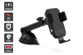 Kogan Auto-Clamping 10W Qi Fast Charge 2-in-1 Car Mount