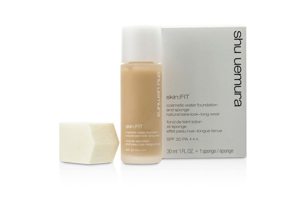 Shu Uemura Skin:Fit Cosmetic Water Foundation and Sponge SPF30 - #564 Medium Light Sand (30ml/1oz)
