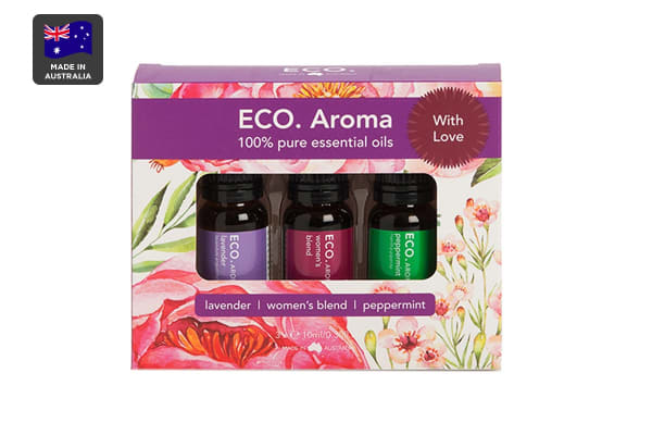 ECO. Aroma With Love Essential Oil Trio (Lavender, Peppermint & Women's Blend)