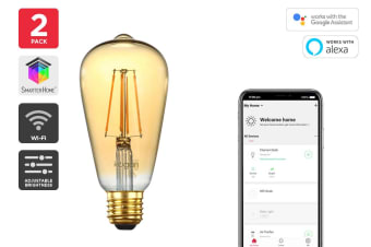 Kogan SmarterHome™ 5W Smart Dimmable LED Filament Bulb ST-20 (E27) - 2 Pack
