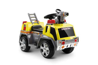 Fire Truck Electric Toy Car (Yellow)
