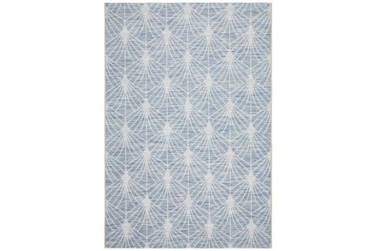 Wyatt Blue & Natural Geometric Coastal Rug 290 x 200cm