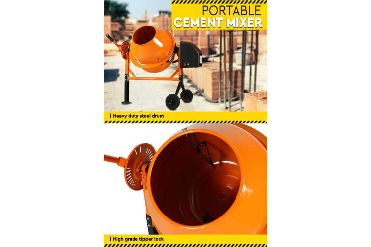 70L Portable Cement Mixer