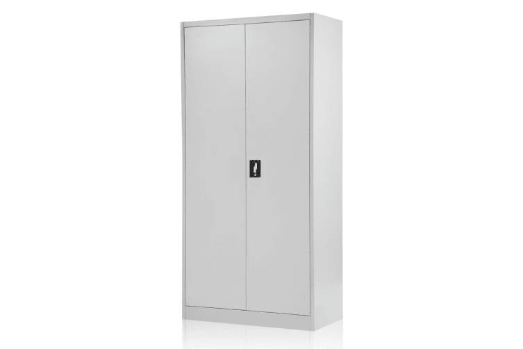 Cool 2 Door Home Office Filing Steel Storage Cabinet Grey White 168Cm Download Free Architecture Designs Terchretrmadebymaigaardcom