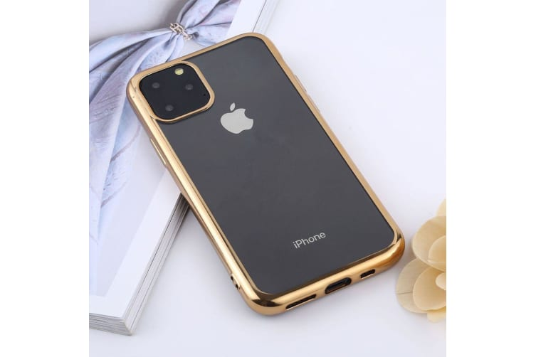 For iPhone 11 Pro Max Case  Clear Protective Back Cover  Gold