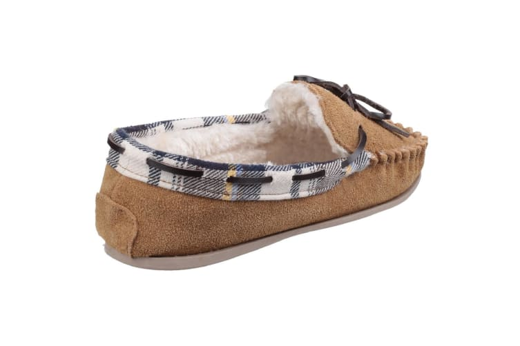 Cotswold Womens/Ladies Kilkenny Classic Fur Lined Moccasin Slippers (Tan) (6 UK)
