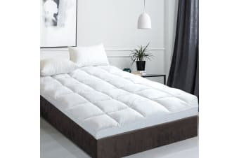 Giselle Bedding 1000GSM Pillowtop Mattress Topper Goose Down Sleep Pad DOUBLE