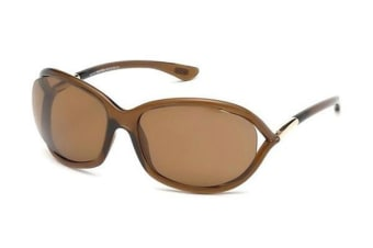 Tom Ford FT0008 - Shiny Dark Brown (Brown Polarised lens) Womens Sunglasses
