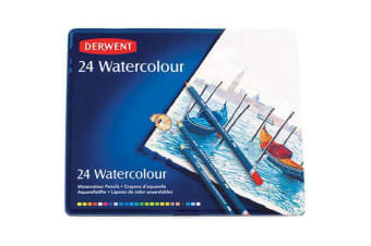 DERWENT WATERCOLOUR PENCILS 3.5MM TIN 24
