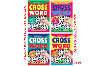 24 x A5 Crossword Puzzle Books To Solve Convenient Fun Game (140 Puzzles/Book)