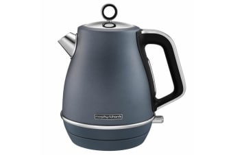 Morphy Richards Evoke 1.5L 2200W Electric Jug Kettle Stainless Steel Boiler Blue