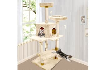 Cat Scratching Post Tree 1.45m Beige