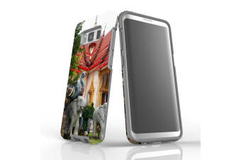 For Samsung Galaxy S8 Case Armour Cover  Elephant at the Temple