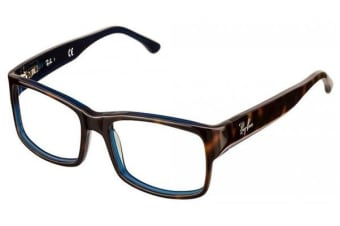 Ray-Ban RX5114 54mm - Top Havana On Blue (Standard lens) / 52--16--135 Mens Glasses