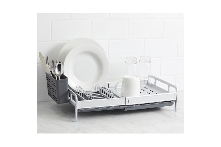Davis & Waddell 51cm Remo Expandable Dish Dishes Plates Cutlery Rack Holder
