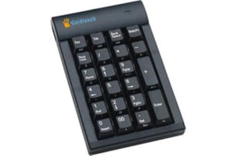KeyOvation Goldtouch USB Numeric Keypad - Black with Hub