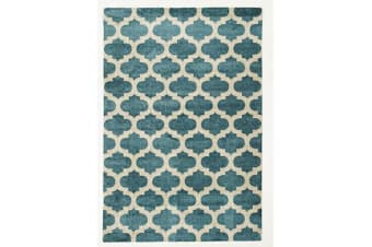 Trellis Stylish Design Rug Blue