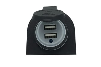 Dual USB Charging Ports 4.2A Output 12/24VDC With Cap/Indicator Light
