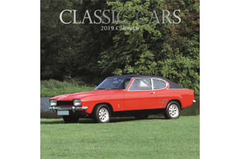 Classic Cars 2019 Premium Square Wall Calendar 16 Month New Year Xmas Decor Gift