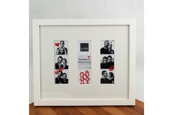 White Timber Photo Booth Gallery Frame