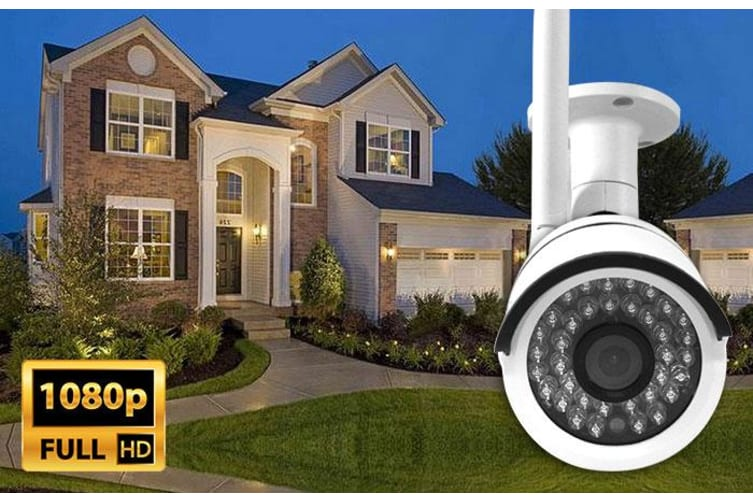 Elinz 8CH CCTV Wireless Security System 2MP IP WiFi 2x Camera 1080P NVR Outdoor No hard Drive Included
