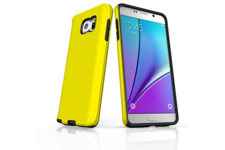 For Samsung Galaxy Note 5 Case  Shielding Back Cover  Yellow