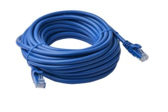 8Ware Cat6a UTP Ethernet Cable 10m Snagless Blue