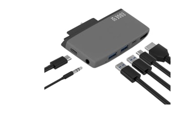 mbeat Edge Go Multifunction USB-C Hub for Microsoft Surface Go (MB-EGE-G59GRY)