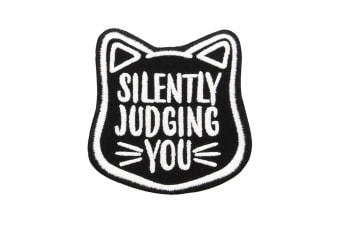 Grindstore Silently Judging You Patch (Black) (One Size)