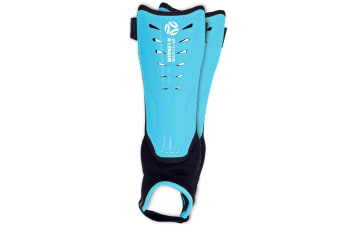 Hyundai A-League Shin Guard/Pads w/ Ankle Sock/Sports/Soccer Large Size/Blue