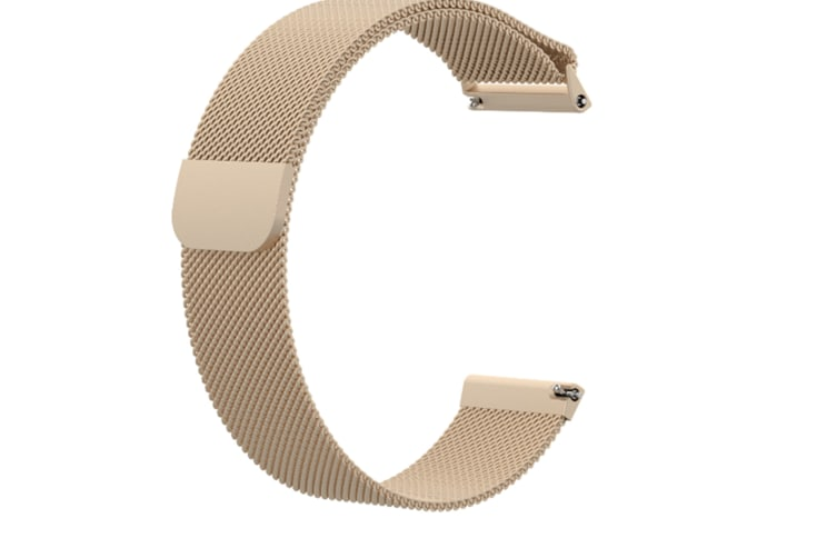 Milanese Loop Metal Replacement Bracelet Strap Wristbands For Fitbit Versa Fitness Smart Watch Champagne Large Size