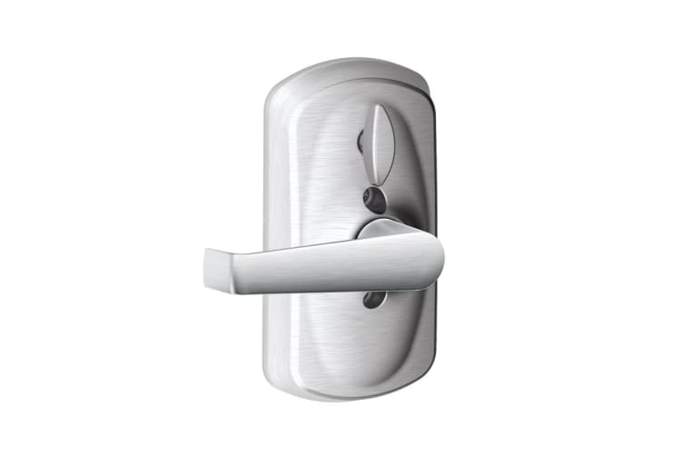 Schlage Keypad Lever with Plymouth Trim and Elan Lever with Flex Lock (Satin Chrome)