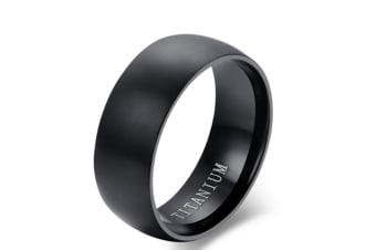 Men's Black Titanium Ring Matte Finished Classic Engagement Anel Jewelry For Male Wedding Bands 13