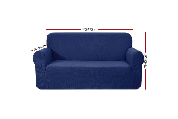 Artiss High Stretch Sofa Cover Couch Lounge Protector Slipcovers 3 Seater Navy