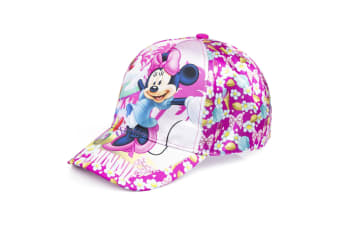 Minnie Mouse Childrens/Girls Ice Cream Stand Baseball Cap (Pink/Dark Pink)
