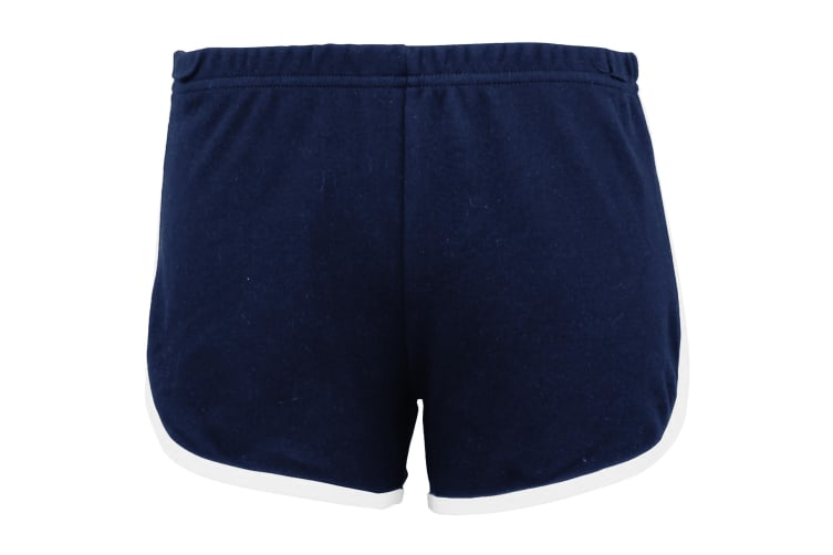 American Apparel Womens/Ladies Cotton Casual/Sports Shorts (Navy / White) (M)