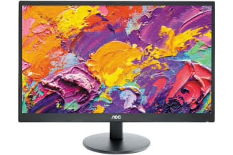 AOC 27' 1ms Full HD Narrow Bezel Monitor - HDMI/DVI/VGA,Tilt,VESA100,Speaker