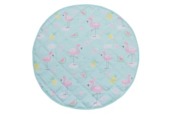 Lolli Living Round play mat Flamingo