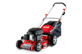 NEW Baumr-AG 18' Lawn Mower - 165cc Push Lawnmower 4 Stroke Petrol Catch Mulch