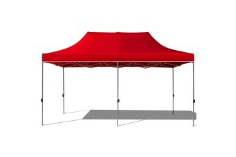 CRAIG 3x6m Pop Up Gazebo Outdoor Folding Tent Market Marquee Canopy Tent RED