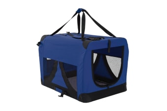 XL Portable Soft Dog Crate - BLUE