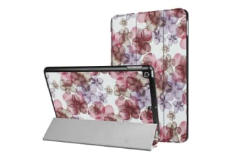 For iPad 2018 2017 9.7in Case Flowery Durable Protective 3-fold Leather Cover