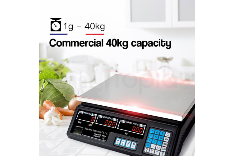MITSUKOTA 40Kg 1g Market Weighing Scales Commercial Digital Electronic Food Shop
